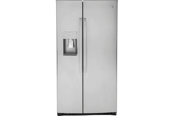 Large image of GE Profile 21.9 Cu. Ft. Fingerprint Resistant Stainless Steel Counter-Depth Side-By-Side Refrigerator - PZS22MYKFS