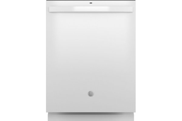 """Large image of GE 24"""" White Top Control Dishwasher With Plastic Interior, Sanitize Cycle & Dry Boost - GDT550PGRWW"""
