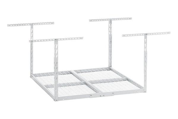 Large image of Gladiator Garageworks White 4 x 4 Overhead GearLoft Storage Rack - GALS44M2KW