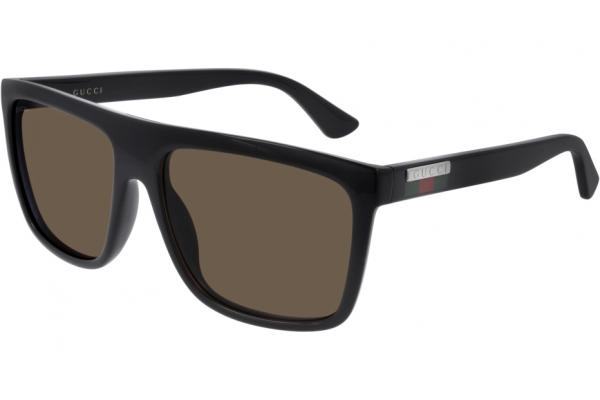 Large image of Gucci Rectangle Brown GG0748S Sunglasses, 59mm - GG0748S002