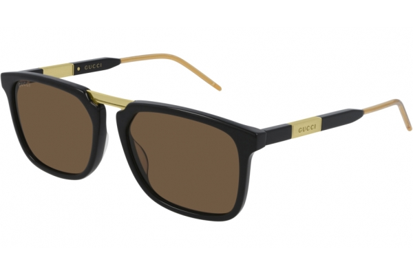 Large image of Gucci Rectangle Brown GG0842S Sunglasses, 56mm - GG0842S001