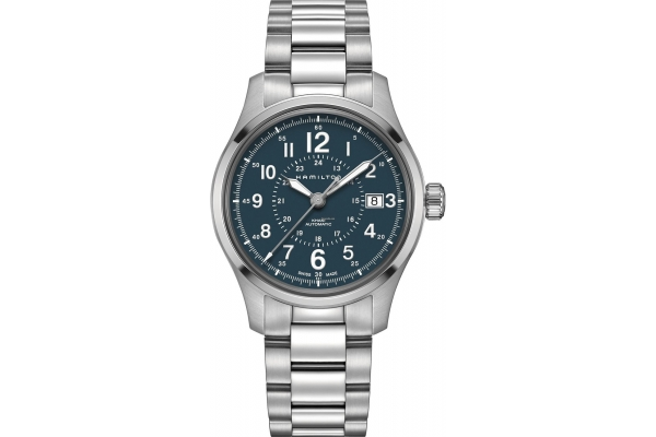 Large image of Hamilton Khaki Field Blue Dial Stainless Steel Watch, 40mm - H70305143