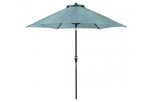 Large image of Hanover Lavallette Blue 9 Ft. Table Umbrella - LAVALLETTEUMBB