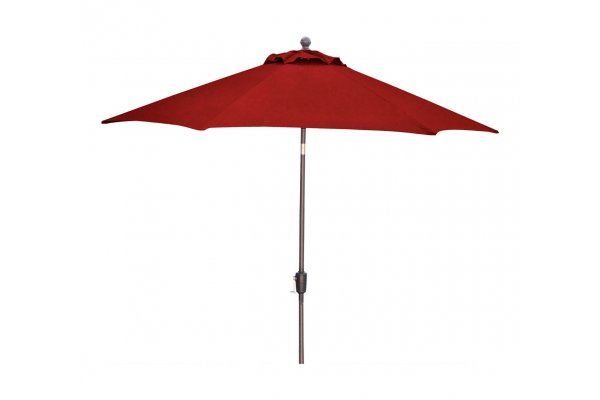 Large image of Hanover Traditions Red 11 Ft. Table Umbrella - TRADUMB11R