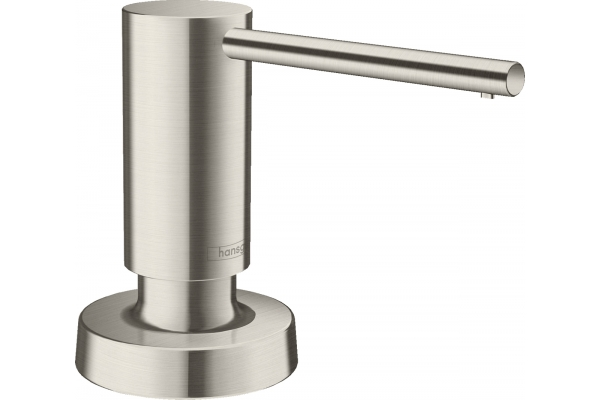 Large image of Hansgrohe Tails Steel Optic Soap Dispenser - 40448801