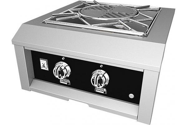 "Large image of Hestan 24"" Stealth Outdoor Natural Gas Power Burner - AGPB24-NG-BK"