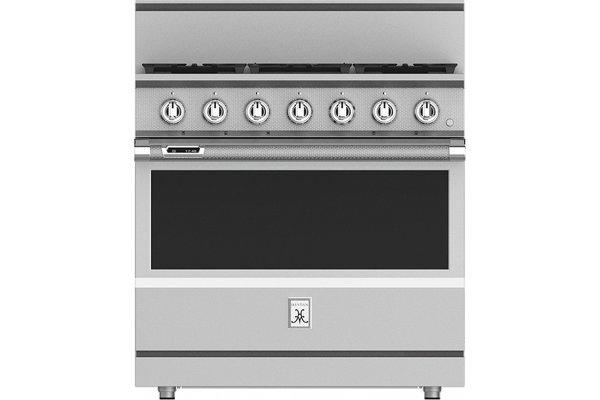 "Large image of Hestan KRD Series 36"" Steeletto 5-Burner Dual Fuel Range - KRD365-NG"
