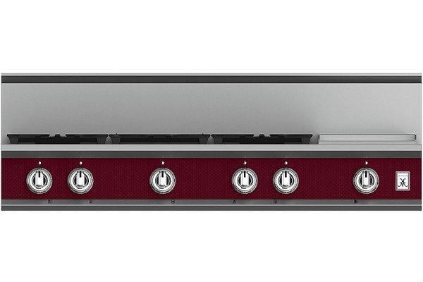 """Large image of Hestan KRT Series 48"""" Tin Roof 5-Burner Rangetop With 12"""" Griddle - KRT485GD-NG-BG"""