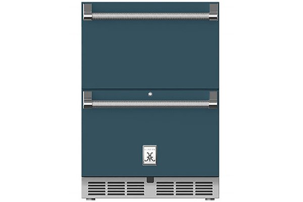 """Large image of Hestan 24"""" Pacific Fog Undercounter Refrigerator Drawers - GRR24-GG"""