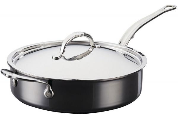 Large image of Hestan NanoBond 3.5 Qt. Titanium Saute Pan With Helper Handle And Lid - 60037