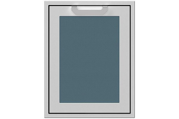 """Large image of Hestan 20"""" Pacific Fog Trash And Recycle Center Storage Drawer - AGTRC20-GG"""
