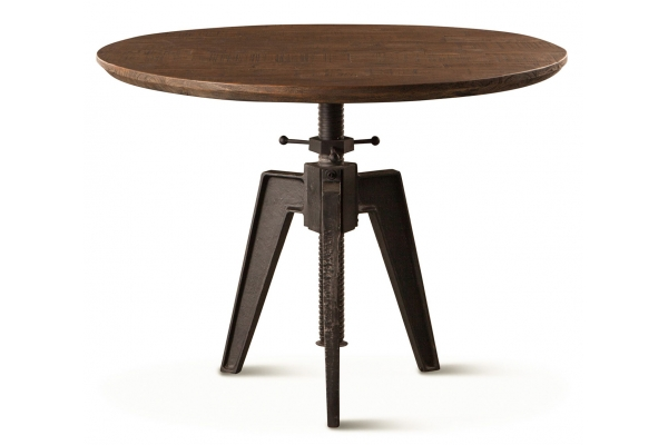 """Large image of Home Trends & Design Carnegie 42"""" Bandsaw Teak Adjustable Round Table - FCR-ADT42BST"""