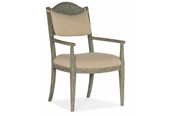 Large image of Hooker Furniture Dining Room Alfresco Aperto Rush Arm Chair - 6025-75301-90