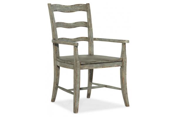 Large image of Hooker Furniture Dining Room Alfresco La Riva Ladder Back Arm Chair - 6025-75300-90