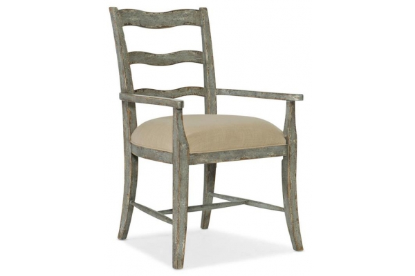 Large image of Hooker Furniture Dining Room Alfresco La Riva Upholstered Seat Arm Chair - 6025-75303-90