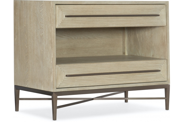 Large image of Hooker Furniture Bedroom Cascade Two-Drawer Nightstand - 6120-90016-80