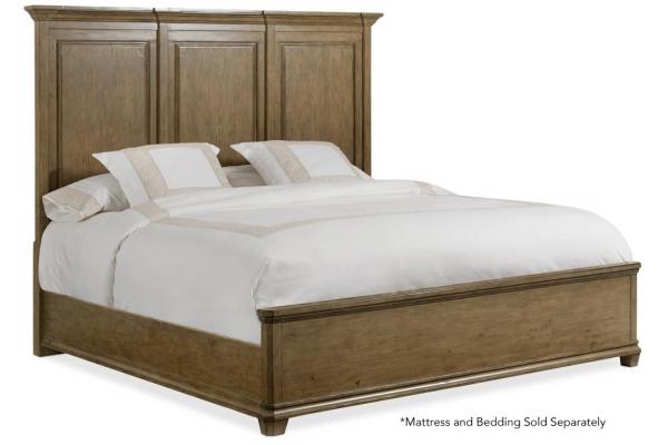 Large image of Hooker Furniture Bedroom Montebello King Wood Mansion Bed - 6102-90666-80