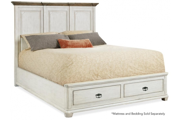Large image of Hooker Furniture Bedroom Montebello Queen Mansion Bed with Storage - 6101-90750-02