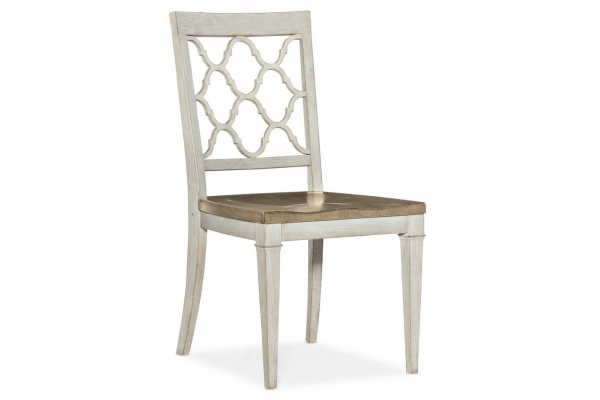 Large image of Hooker Furniture Dining Room Montebello Wood Seat Side Chair - 6101-75310-02