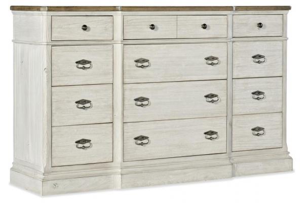 Large image of Hooker Furniture Bedroom Montebello Twelve-Drawer Dresser - 6101-90002-02