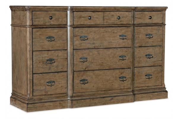 Large image of Hooker Furniture Bedroom Montebello Twelve-Drawer Dresser - 6102-90002-80