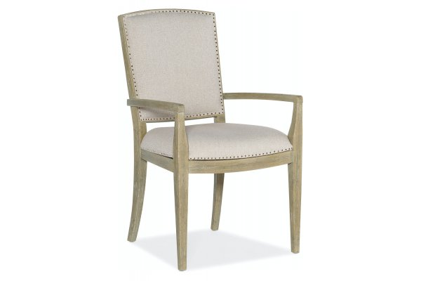 Large image of Hooker Furniture Surfrider Carved Back Arm Dining Chair (Each) - 6015-75401-80