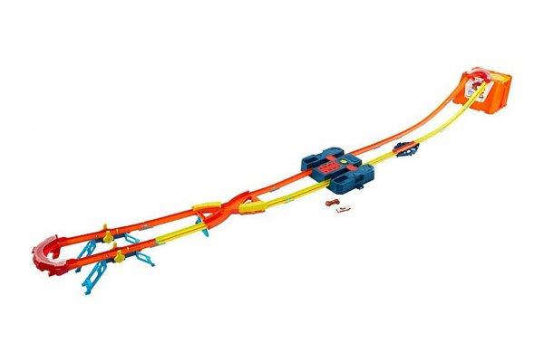 Large image of Hot Wheels Track Builder Unlimited Power Boost Box Track Set - MTTGNJ01