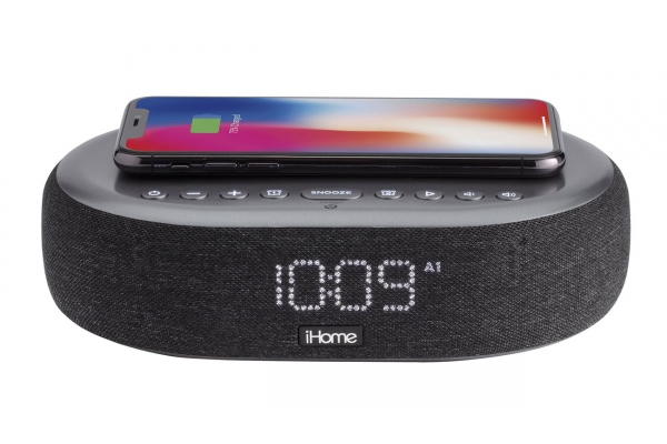 Large image of iHome TimeBoost Bluetooth Stereo Alarm Clock With Wireless Charging, Speakerphone, And USB Charging - IBTW41