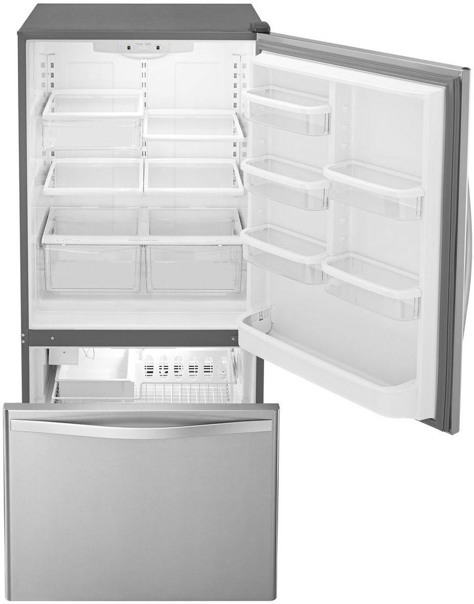 Pc Richards Kitchen Appliances Whirlpool Bottom Freezer Refrigerator Wrb322dmbm