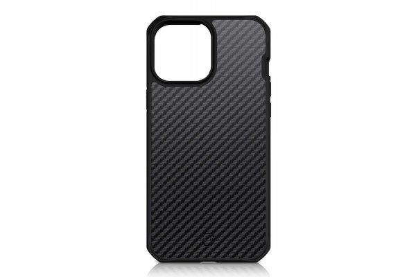Large image of ITSKINS Hybrid Carbon Black Case For Apple iPhone 13 - AP2R-HYBFS-BLK1