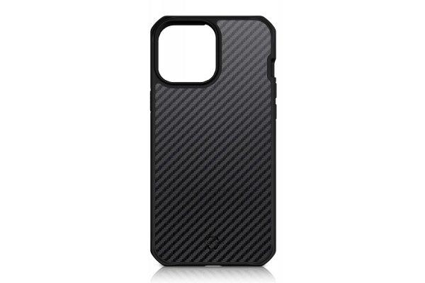 Large image of ITSKINS Hybrid Carbon Black Case For Apple iPhone 13 mini - AP2N-HYBFS-BLK1
