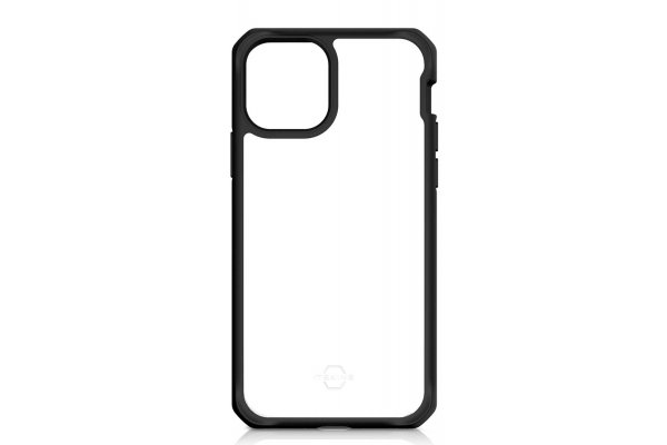 Large image of ITSKINS Hybrid Solid Black Transparent Case For Apple iPhone 11 - APXI-HYBSO-PBTR