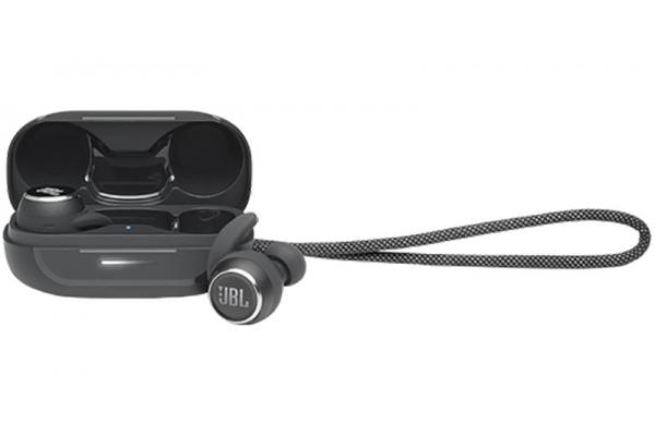 Large image of JBL Reflect Mini Black Waterproof Noise Canceling True Wireless In-Ear Headphones - JBLREFLMININCBLKAM