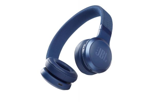 Large image of JBL LIVE 460NC Blue Wireless Noise Cancelling On-Ear Headphones - JBLLIVE460NCBLUAM