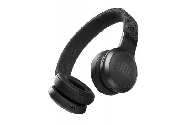 Large image of JBL LIVE 460NC Black Wireless Noise Cancelling On-Ear Headphones - JBLLIVE460NCBLKAM