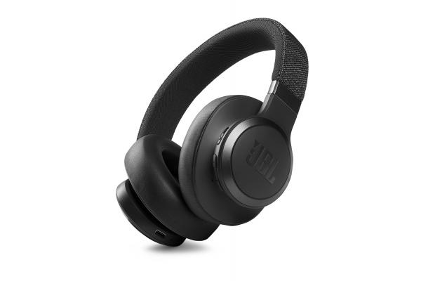Large image of JBL LIVE 660NC Black Wireless Noise Cancelling Over-Ear Headphones - JBLLIVE660NCBLKAM