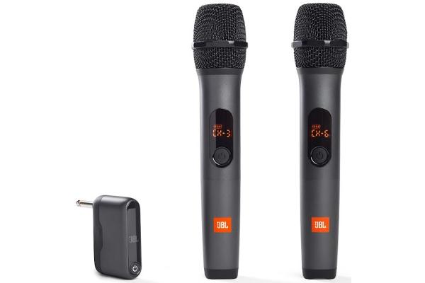 Large image of JBL Wireless Two Vocal Microphone System - JBLWIRELESSMICAM