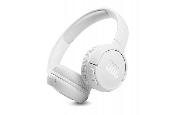 Large image of JBL TUNE 510BT White Wireless On-Ear Headphones - JBLT510BTWHTAM