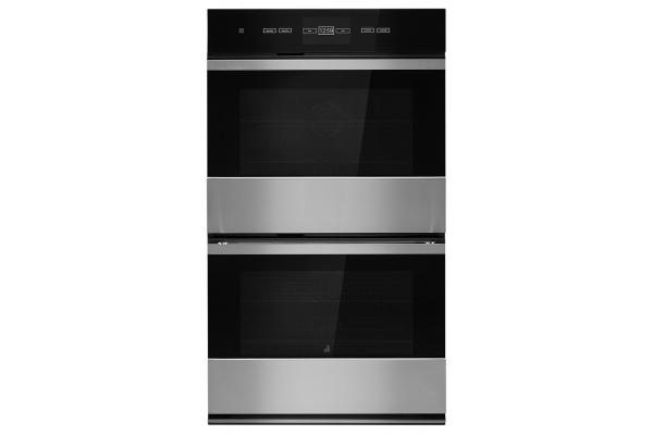"Large image of JennAir NOIR 30"" Stainless Steel Double Wall Oven - JJW3830IM"