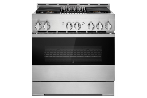 """Large image of JennAir NOIR 36"""" Professional-Style Freestanding Gas Range With Grill - JGRP636HM"""