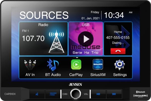 "Large image of Jensen 9"" Multimedia Receiver With Apple Carplay & SiriusXM-Ready - CAR910X"