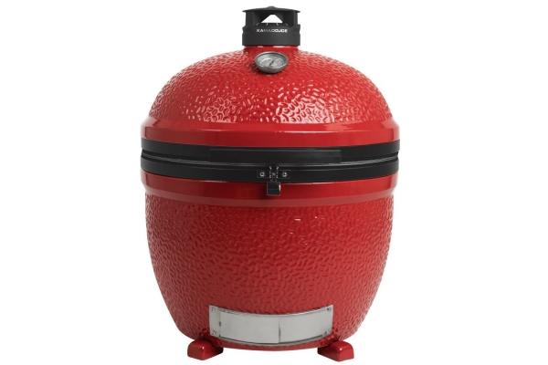 "Large image of Kamado Joe 24"" Big Joe Stand-Alone Red Ceramic Grill - BJ24NRHC"