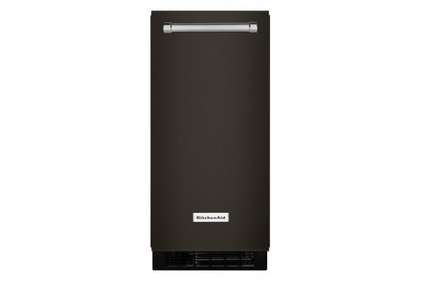 "Large image of KitchenAid 15"" Black Stainless Ice Maker - KUIX535HBS"