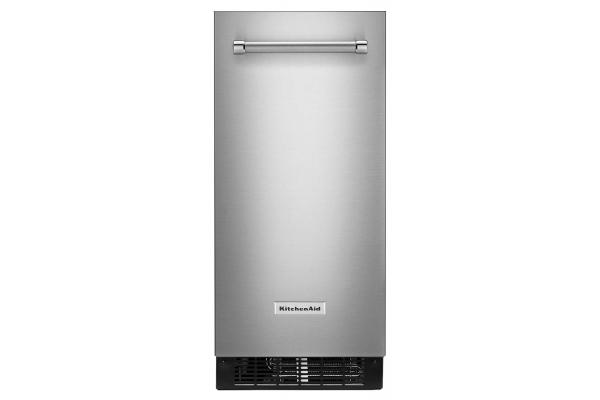 "Large image of KitchenAid 15"" PrintShield Stainless Steel Automatic Ice Maker - KUIX335HPS"