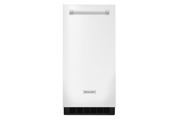 """Large image of KitchenAid 15"""" White Automatic Ice Maker - KUIX335HWH"""
