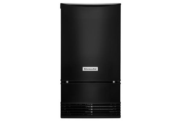"""Large image of KitchenAid 18"""" Black Automatic Ice Maker - KUID508HBL"""