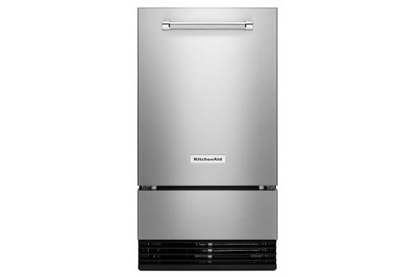 """Large image of KitchenAid 18"""" PrintShield Stainless Steel Automatic Ice Maker - KUID308HPS"""