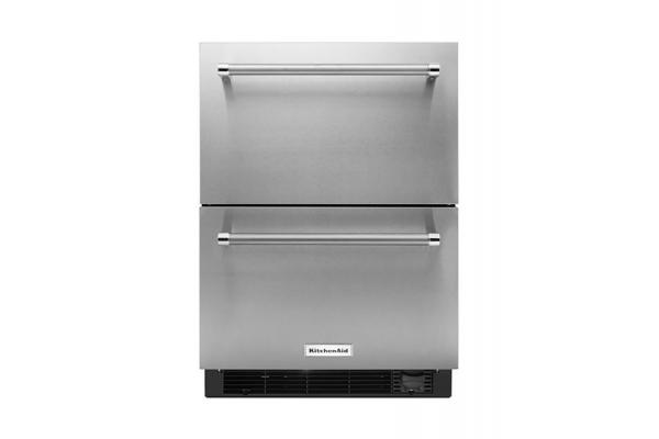 """Large image of KitchenAid 24"""" Stainless Steel Refrigerator/Freezer Drawer - KUDF204KSB"""