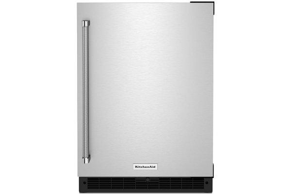 "Large image of KitchenAid 24"" Stainless Steel Right-Hinge Undercounter Refrigerator - KURR114KSB"