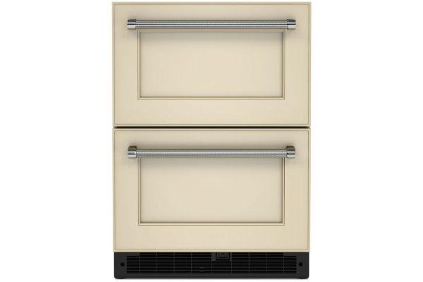 "Large image of KitchenAid 24"" Panel-Ready Undercounter Double-Drawer Refrigerator - KUDR204KPA"
